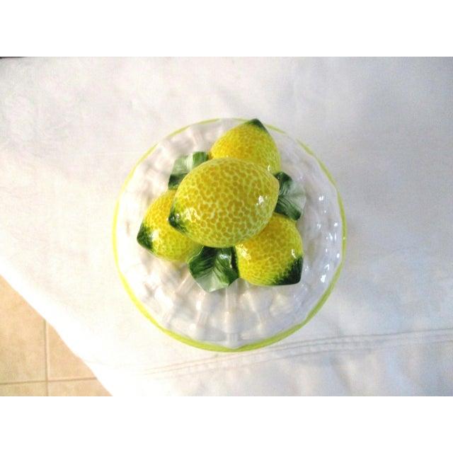 1980s Vintage Ceramic Lemon Canister For Sale - Image 4 of 6