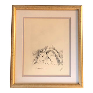 Vintage Marie Laurencin Print Framed For Sale