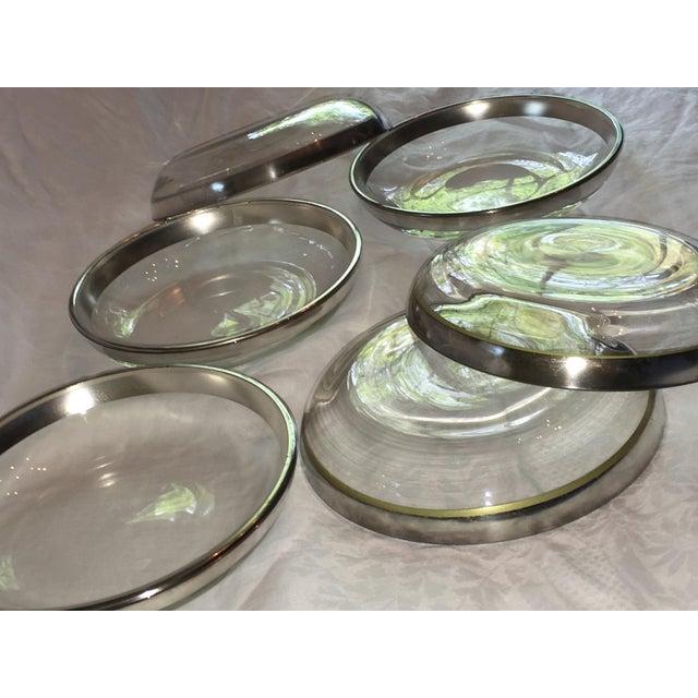 Dorothy Thorpe Silver Rim Plates - Set of 6 - Image 4 of 6