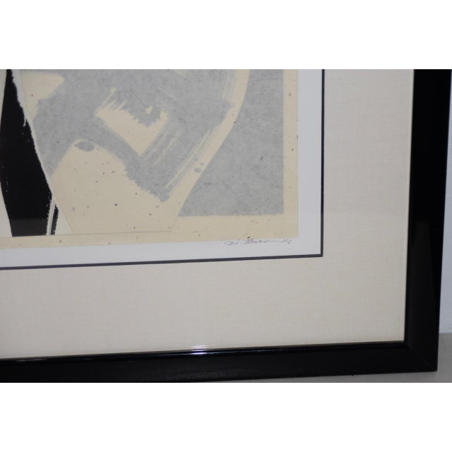 Late 20th Century Mixed Media Abstract on Paper by H. Munson C.1986 For Sale - Image 4 of 11