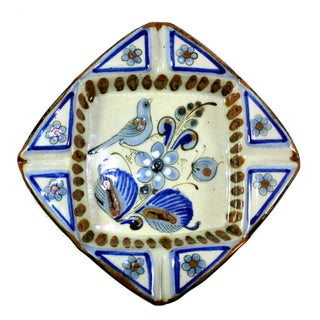 Vintage Handmade Pottery Ken Edwards Bird Ashtray For Sale