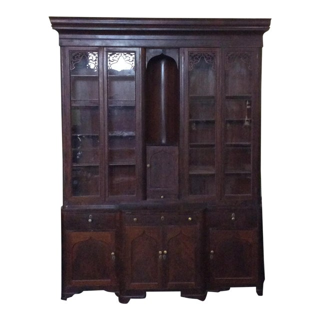 Mahogany Classical Gentleman's Secretary Bookcase For Sale