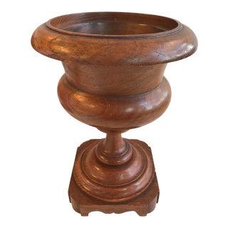 19th Century Turned Oak Urn
