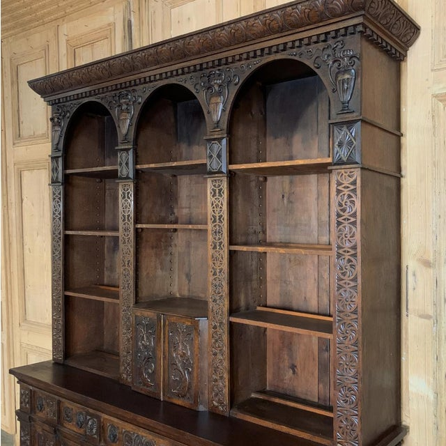 Mid 19th Century 19th Century Renaissance Bookcase For Sale - Image 5 of 13