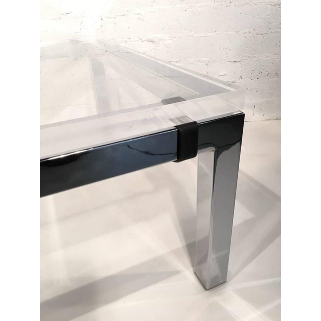 Acrylic and Chrome Cocktail Table by Charles Hollis Jones - Image 5 of 7