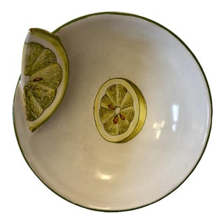 Vintage Italian Pottery Lemon Bowl For Sale
