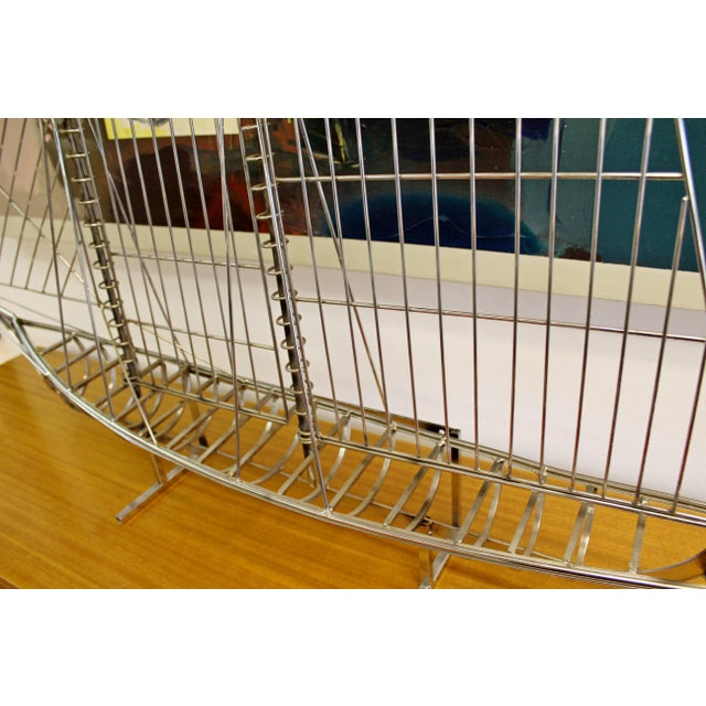 Chrome Mid-Century Modern Chrome Sailboat Table Sculpture Signed Curtis Jere, 1970s For Sale - Image 7 of 9