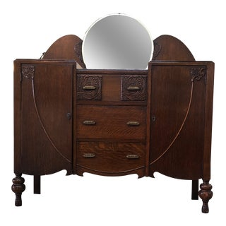 Art Deco Oak Sideboard For Sale