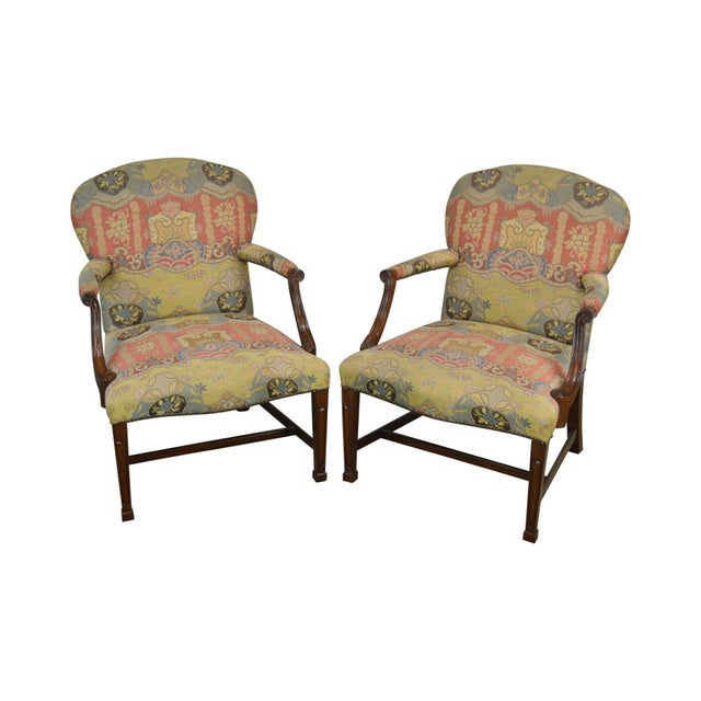 Smith & Watson Hepplewhite Mahogany Pair Open Armchairs For Sale - Image 13 of 13