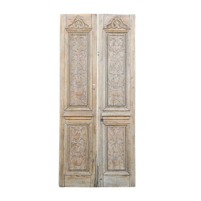 Brown Grand Antique Indo French Doors For Sale - Image 8 of 8