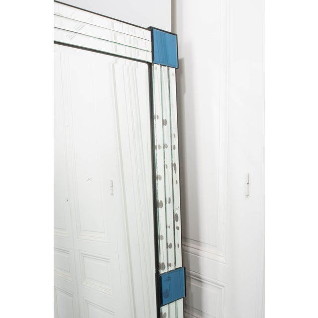 Glass French 20th Century Art Deco Beveled Mirror For Sale - Image 7 of 12