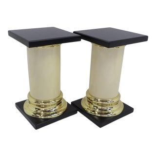 1960s Mastercraft Modern Columnar Side Tables Pedestals - a Pair For Sale