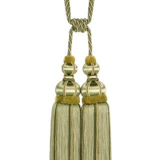 """Double Tassel Tieback With Cut Ruche- Tassel Height 17"""" Preview"""