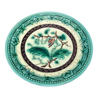 French Majolica Cake Stand/Compote, C. 1890 For Sale