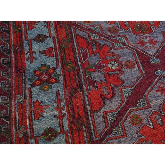 Caucasian Sumak Carpet For Sale - Image 9 of 10