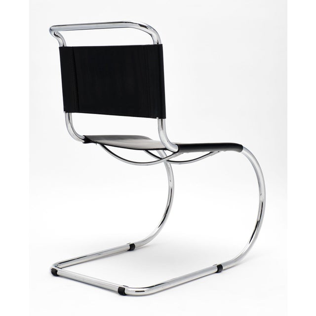 Black Vintage Mies Van Der Rohe Cantilever Chairs - a Pair For Sale - Image 8 of 10
