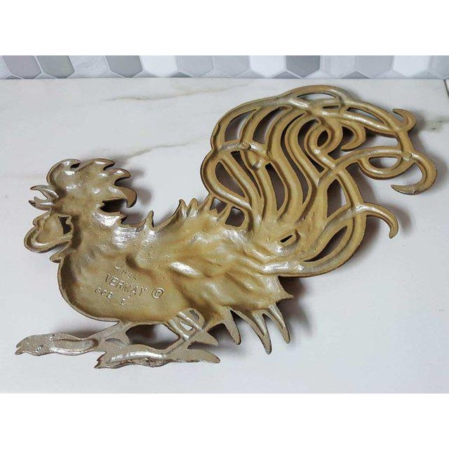 Brown 1960s Vintage Fighting Roosters Wall Decor- A Pair For Sale - Image 8 of 11