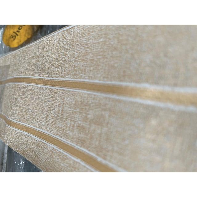 Uneven Gold Stripe pattern. Manufacturer: Patty Madden Made Between: 2010-2020 Woven Back. Class A Type II Vinyl...