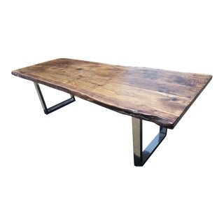 Live Edge Acacia Wood Conference Table For Sale