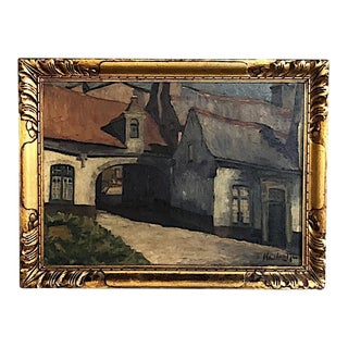 1926 Framed Oil Painting on Canvas by J. Henrotte For Sale