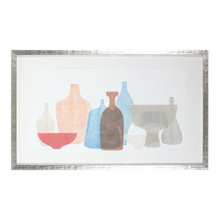 """Chromatic Vessels V"" Abstracted Still Life For Sale"