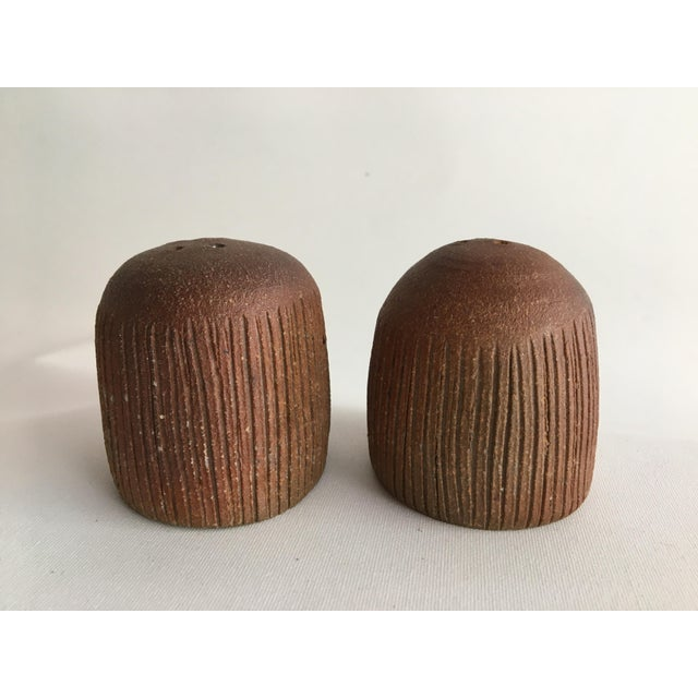 Wood 1970s Ceramic Salt and Pepper Shakers - Set of 2 For Sale - Image 7 of 7