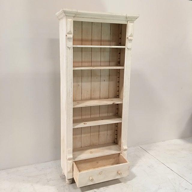 Rustic Tall White Shelf - Image 6 of 9