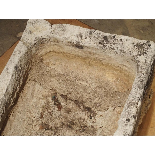 Gray 18th Century French Stone Farmhouse Trough For Sale - Image 8 of 13