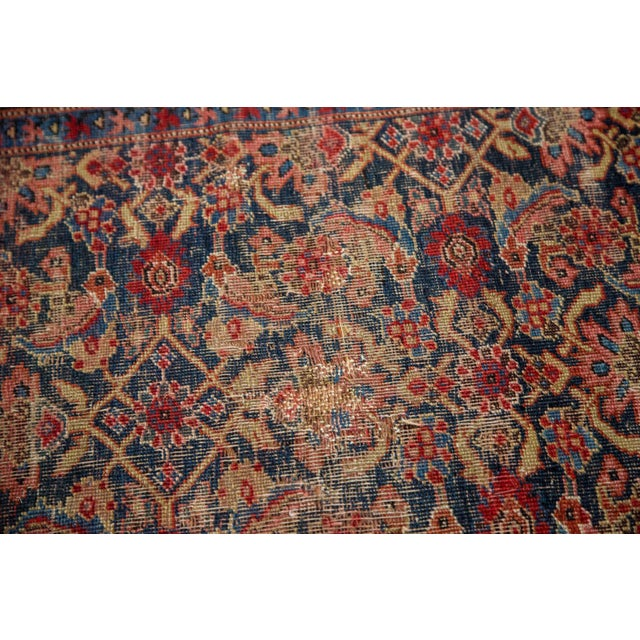 "Vintage Distressed Bijar Rug Runner - 3'7"" x 15'2"" - Image 9 of 10"