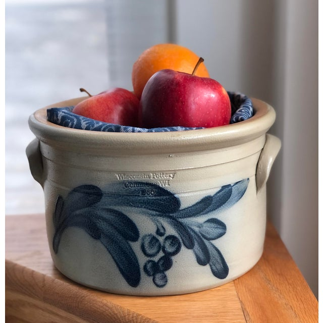 "Gorgeous ""Wisconsin Pottery, Columbus WI."" planter pot in the the Early American stoneware, salt-glazed style. This is an..."