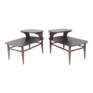 Pair Two-Tier Side Tables by Lane Furniture For Sale