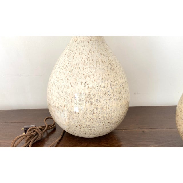 Organic Modern Handmade Ceramic Table Lamps - a Pair For Sale - Image 10 of 11