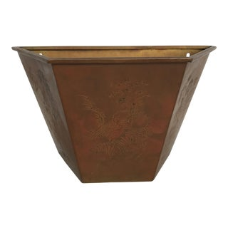 Brass Chinoiserie Planter