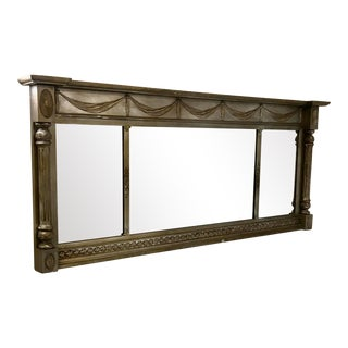 Victorian French Neo Classical Wall Mantel Fireplace Mirror For Sale