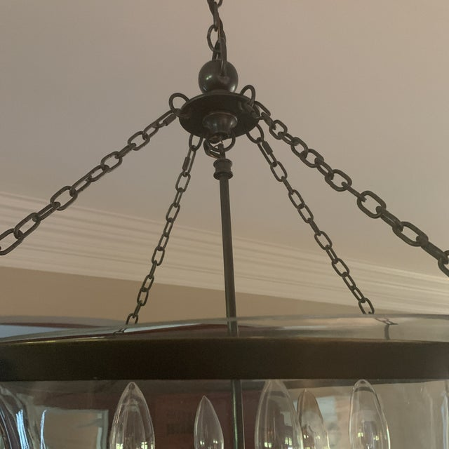 2000 - 2009 e.f. Chapman Visual Comfort Country Bell Jar Pendant For Sale - Image 5 of 7