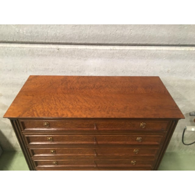 20th Directoire-Style Chest of Seven Drawers With Bronze Pulls, France For Sale - Image 9 of 11