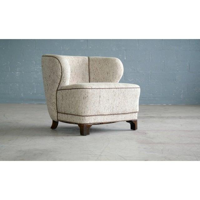 Viggo Boesen Attributed Danish Modern Lounge Chair 1940s - Image 4 of 11