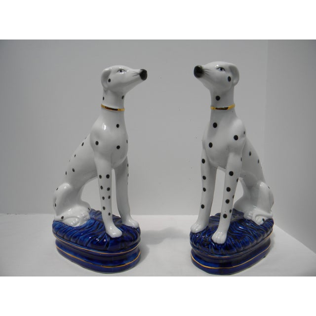 Staffordshire Style Dalmatian Bookends - a Pair For Sale - Image 10 of 10