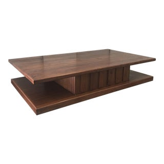 Mid-Century Solid Walnut Coffee Table