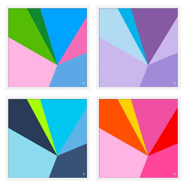 """Large """"Fractured, Set of 4"""" Print by Wendy Concannon, 50"""" X 50"""" For Sale"""