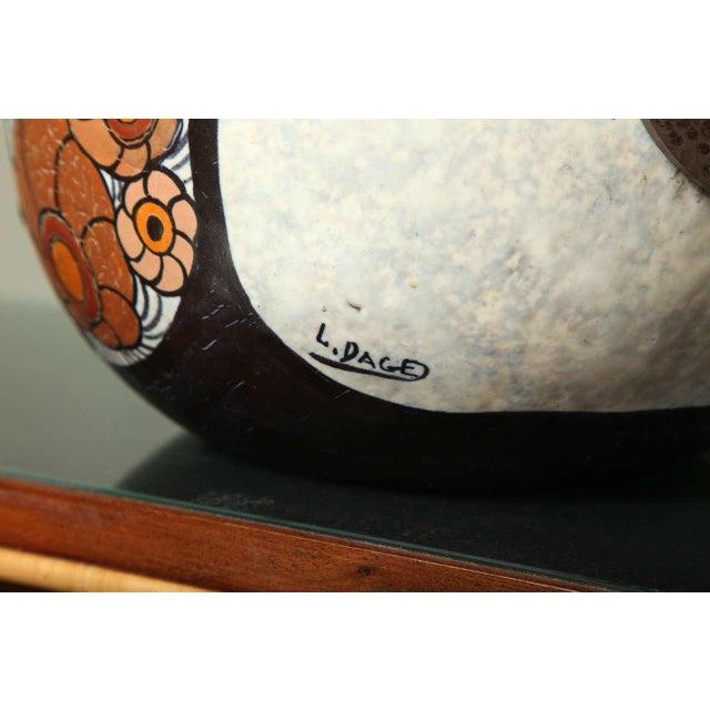 1920s Art Deco Pottery Amphora Vase by Louis Dage For Sale - Image 5 of 10