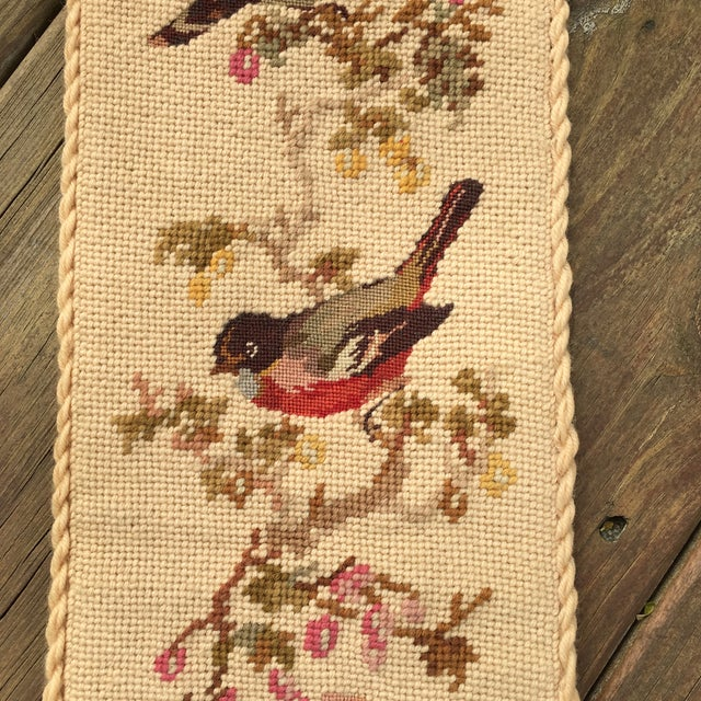 Vintage Embroidered Bird Wall Hanging - Image 4 of 10