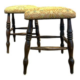 19th Century Windsor Footstools - a Pair For Sale