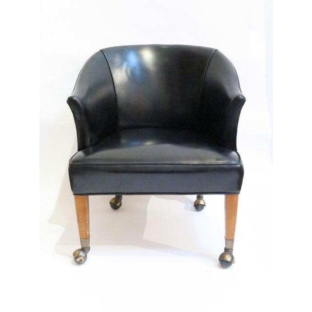 Vintage Black Armchair - Image 2 of 6