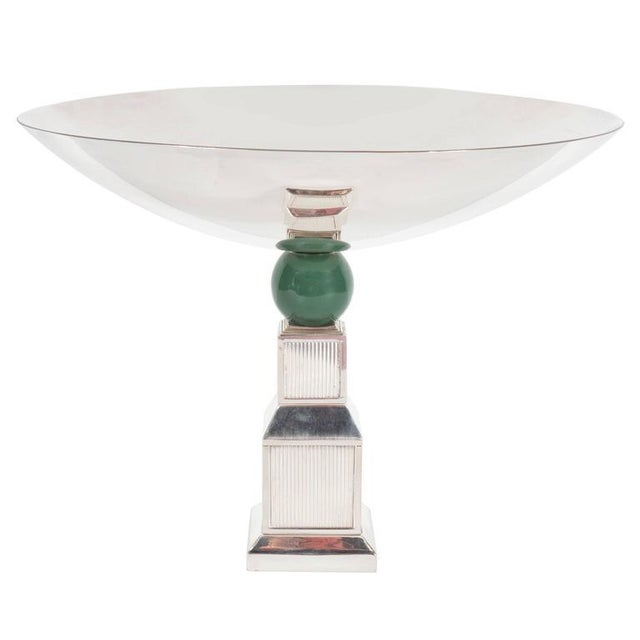 Mid-Century Modernist Art Deco Style Silver-Plated Bronze Tazza by Gucci - Image 10 of 10