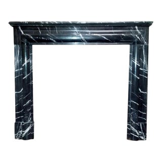 Black Louis XIV Style Bolection Molded Mantel For Sale