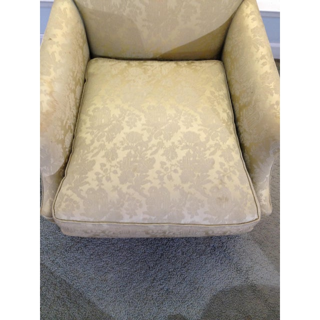 1930s Antique Coil Sprung Armchair For Sale In New York - Image 6 of 7