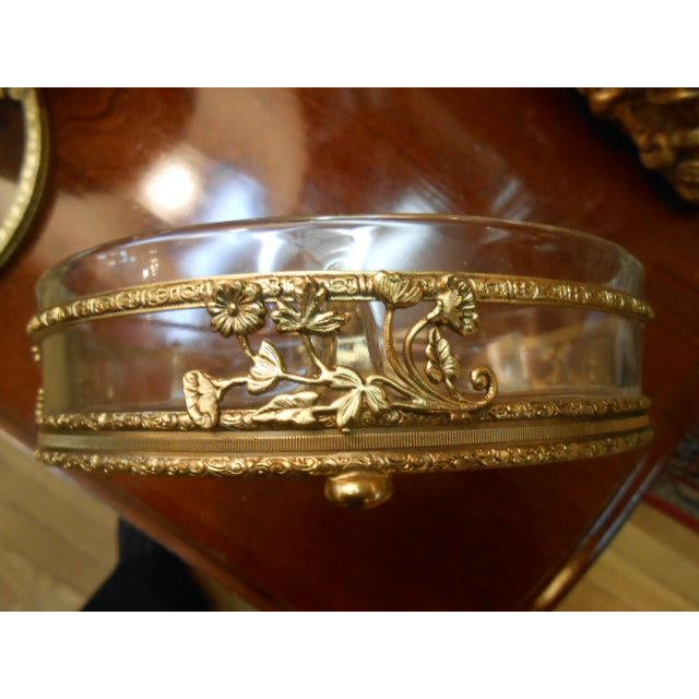 Brass Antique Gold Ormolu Divided Dish For Sale - Image 7 of 10