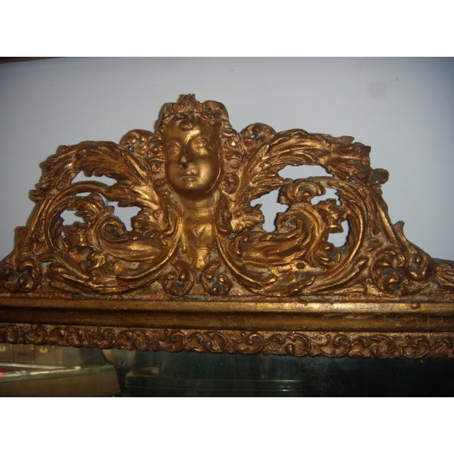 Antique Italian Gilt Cherub Mirror - Image 6 of 12