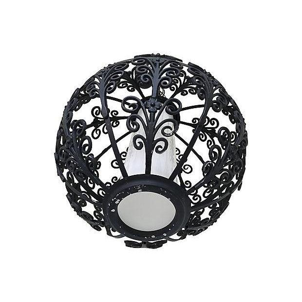 Feldman Lighting Feldman Mid-Century Globe Pendant Light For Sale - Image 4 of 7